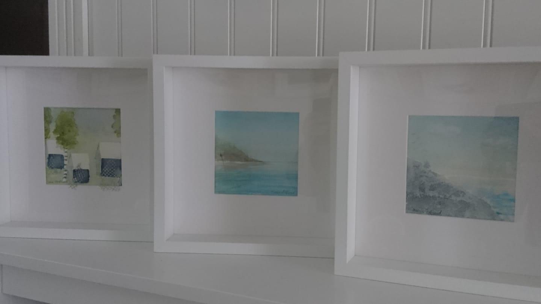 3 små akvareller