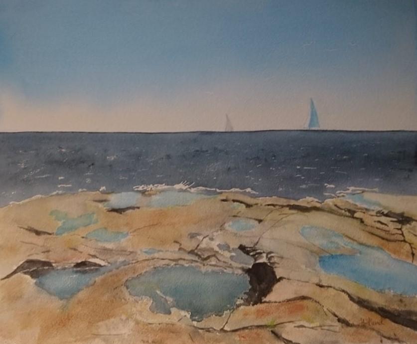 Rotsidan ,segelbåtar