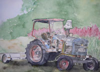 Traktor i vila